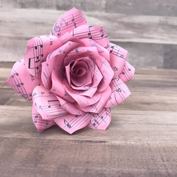 Music note flowers Music Rose Music flower Music paper