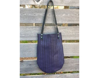 Limited Edition LUNA TOTE Purple Mesh Leather • Leather Bag