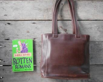 Vintage COACH Bag No.80D-9305 / Mahogany Brown / Handbag , Shopper , Tote , Shoulder Bag / Small