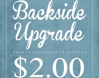Upgrade Backside to Custom Design