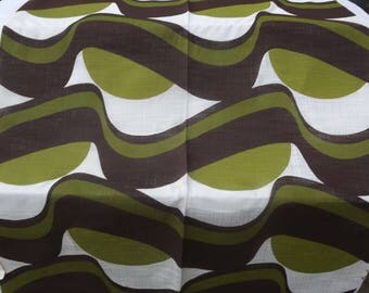 Vintage Funky SCREEN PRINTED Fabric 3 different colours - Original 1960s