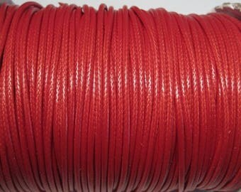 50% OFF Clearance Sale-- Red Korea Wax  Cotton Cord Bracelet Necklace Cord 2mm
