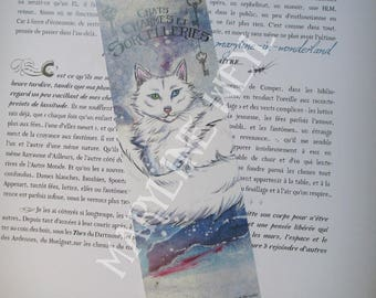 """cats, charms and sorcery"" Snow Cat bookmark"