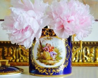 Royal Vienna Handpainted Biscuit Jar