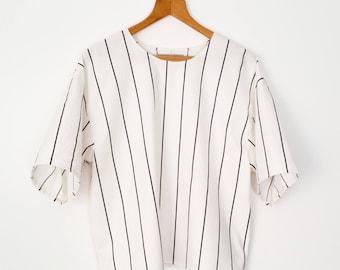 Thin Striped Boxy Tshirt