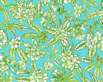Floral wallpaper for craft use - 'paste the wall' wallcovering - A4 size or per meter - art print, decoupage, lining, crafts