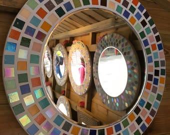 Patchwork Pattern Mosaic Mirror