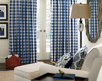 Buffalo Check Curtains - Plaid Curtains - Country Curtains - Checked Drapes - Curtains - Buffalo Drapes - Gingham -  Choose Color  - Qty 2