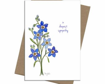 Forget Me Nots Blue | Sympathy Card | SKU C1902