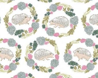 Garden Sanctuary - Hedgehogs White - Rae Ritchie - Dear Stella (STELLA-SRR859-White)