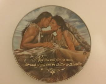 "Franklin Mint ""A Blessing of Love"" plate, 1980"