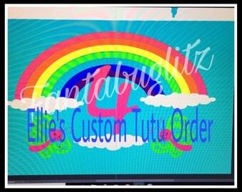 Custom Rainbow Tutu Set