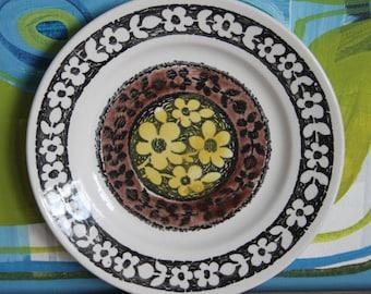"Vintage 1960's Staffordshire Broadhurst Ironstone Kathie Winkle Broadhurst Ironstone ""Lemon grove"" Pattern Bread Plate"