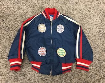 KIDS Vintage 70's NL Baseball Teams Toddler Sz 2T Dugout Jacket