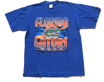 Florida Gators Logo 7 T Shirt 90s Florida Gators Tee Gators NCAA Short sleeve T Shirt size men's XL 100% Cotton USA made