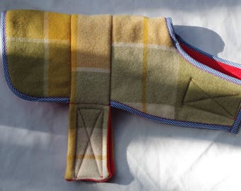 Recycled Vintage Blanket Dog Jacket - Extra Small
