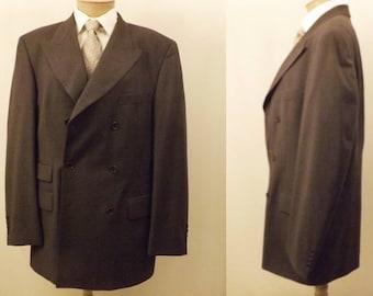 Vintage Hugo Boss Gray Double Breasted Blazer Size 40