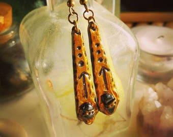 Stud Earrings Rune TIWAZ - rune earrings night Rune jewelry, rune of protection, larp stone earrings