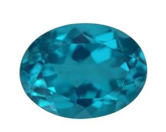 Capri Blue Quartz Triplet Loose Gemstone Oval Cut 1A Quality 16x12mm TGW 8.35 cts.
