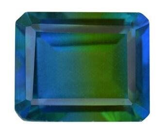 Blue Nile Triplet Quartz Loose Gemstone Octagon Cut 1A Quality 10x8mm TGW 3.20 cts.