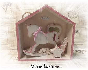"""Cabinet of curiosities """"Horse pink"""" House of memories while affection"""