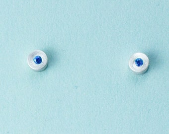 September Birthstone Silver Gemstone Earrings