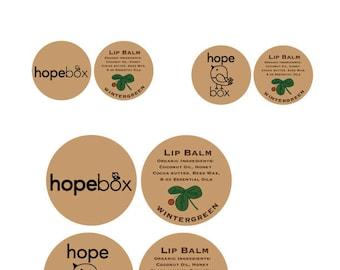 150 custom lip balms for hopebox