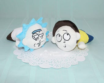 Rick and Morty inspired kuttari plushies