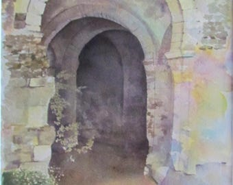 Real watercolor, the Priory St Cosme or Ronsard Priory