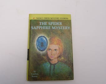 Nancy Drew book, The Spider Sapphire Mystery, Nancy Drew vintage book, vintage book, 1960s Nancy Drew book, 1960s Nancy Drew #45