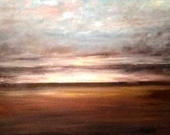 Dawn over Landscape Original Oil Painting (50cm x 40cm)