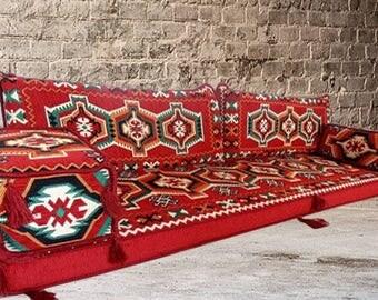 Arabic Style Majlis Floor Sofa Set, Floor Couch, Oriental Floor Seating,  Floor Seating Part 53