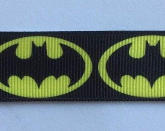 Batman Ribbon Grosgrain Ribbon several widths