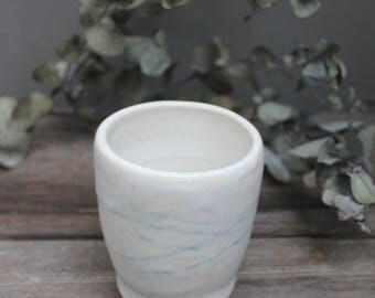 Mountain Lines -  Handmade Ceramic Tumbler - Wheel Thrown Cup Mug