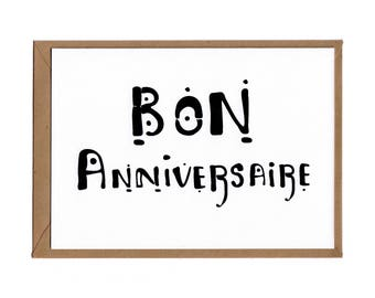 Bon Anniversaire Birthday Card