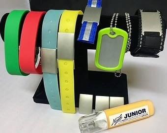 Bracelet Set with Metal Marking YELLOW Marker