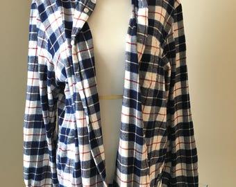 XL VINTAGE traditional plaid FLANNEL button down Shirt