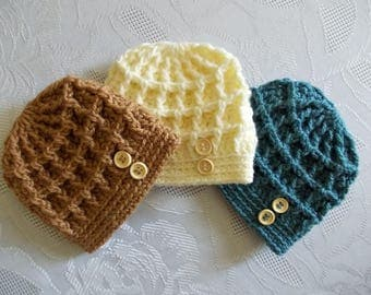 Baby boy hats Newborn crochet hats Newborn boy outfit Crochet baby hats Baby boy beanie Baby boy button hats Newborn boy hats Baby beanies
