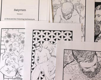 Satyrism: Volume I - A Homoerotic Coloring Adventure