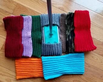 Swiffer Cover, Swiffer Pad, Crochet Swiffer Pad, Crochet Mop Cover, Reusable mop cover, Assorted colors