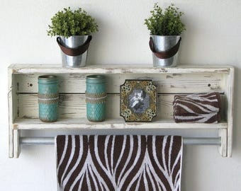 SALE Reclaimed Towel Rack Shelf--3 Colors Available!!