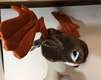 Whimsical moose hat
