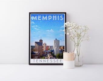 Print - Memphis, TN - Digital Art