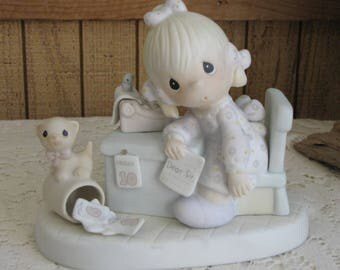 Precious Moments Praise the Lord Anyway Figurine Jonathan and David Butterfly Symbol 1993 Retired