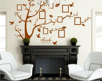 Family Tree Wall Decal   Brown