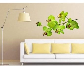 20% OFF Summer Sale Orchid Branch floral wall print decal, sticker, mural, vinyl wall art