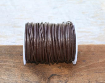 1.5mm Chocolate Brown Leather Cord
