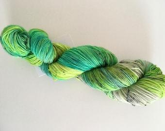 Poison Ivy Hand Dyed Superwash BFL/ Nylon Sock Yarn