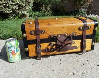 1850's - 1860's Antique Valise, Hand Trunk