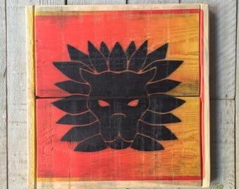 Leo Print On Wood